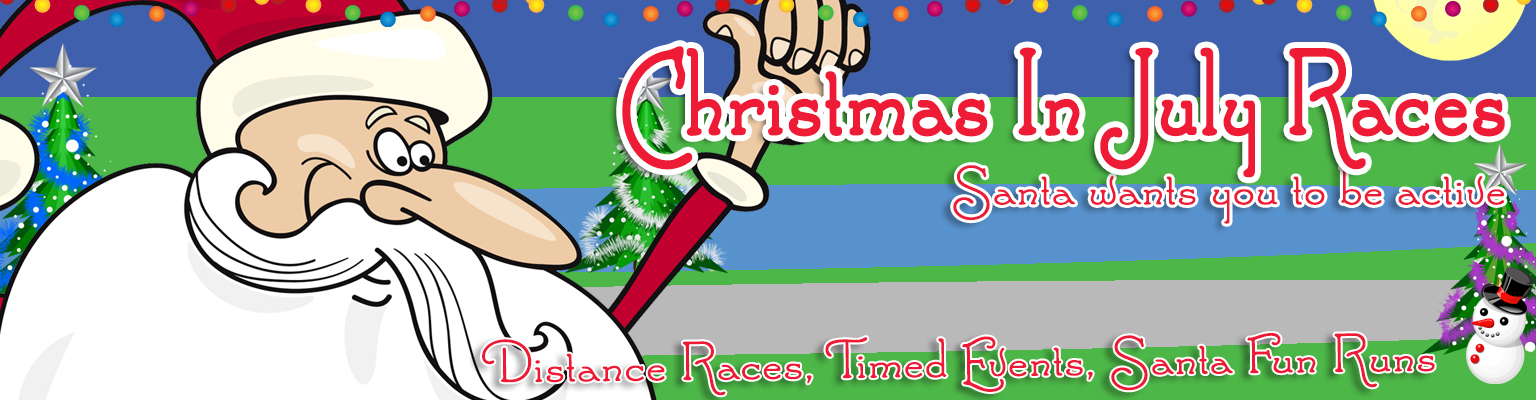 Christmas In July Santa Clipart.Christmas In July Races Runners 4 Wellness